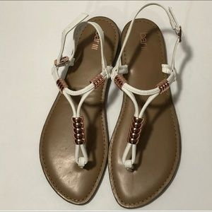 NWOB Bar III Vortex Sandal T-Strap White/Copper
